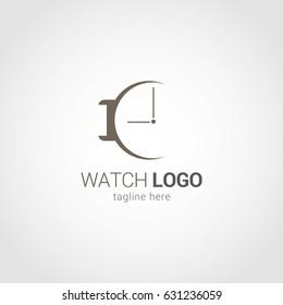 Watch Logo Design Template. Vector Illustration