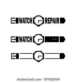 Watch logo.Icon. Vector