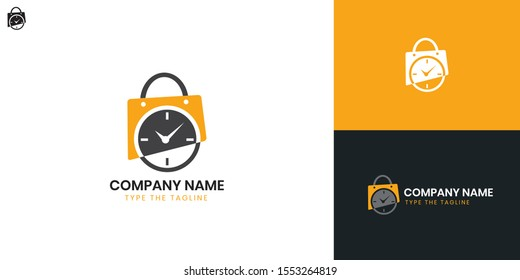 Watch Shop logo - All elements on this template are editable with vector software, suitable for Watch and Clock Business / Industry.