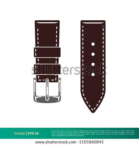 watch strap leather icon vector logo stock vector royalty free