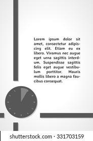 watch symbol dark infographics on gray gradient background