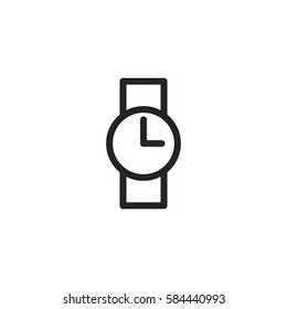 Watch vector icon, time symbol. Modern, simple flat vector illustration for web site or mobile app