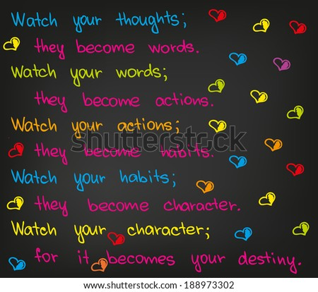 Watch Your Thoughts Stock Vector (Royalty Free) 188973302