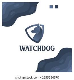watchdog , shield ,protect , logo design inspiration