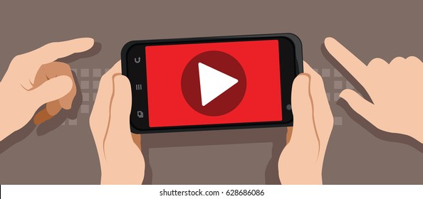 watching video with smartphone