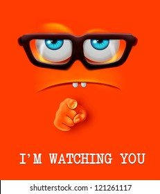 I'm watching you face. Vector