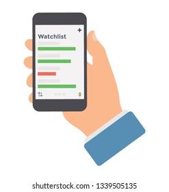 Watchlist icon vector design