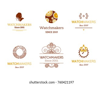 Watchmaker  and repairman logo collection