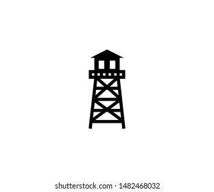 Watchtower vector isolated flat illustration. Watchtower icon