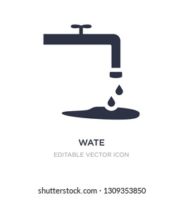 wate icon on white background. Simple element illustration from Nature concept. wate icon symbol design.