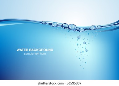 Water background, vector illustration