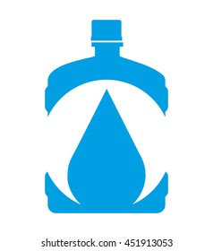 water big bottle isolated icon design, vector illustration  graphic