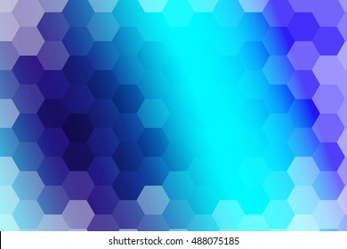 water blue color polygonal vector illustration, hexagon design for your ideas. gradient style, for business wallpaper, presentation