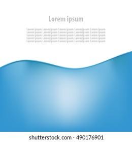 Water blue splash logo