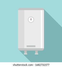 Water boiler icon. Flat illustration of water boiler vector icon for web design