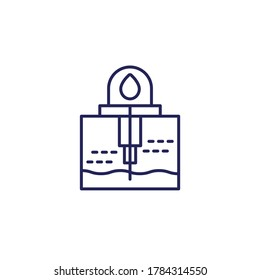 water borehole well line icon