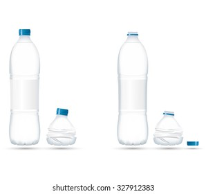 Water Bottle Compact with transparency