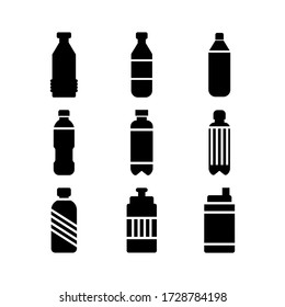 water bottle icon or logo isolated sign symbol vector illustration - Collection of high quality black style vector icons
