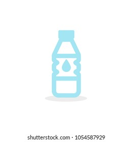Water bottle icon. Plastic container.Vector illustration, flat design