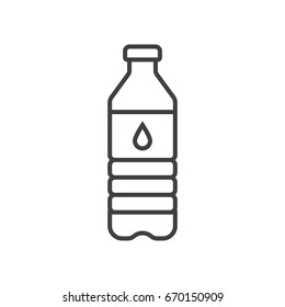 Water bottle line icon.