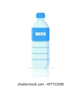 Water Bottle vector icon.