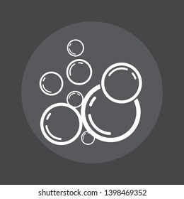 water bubble Logo with black background. water bubble icon. illustration element vector