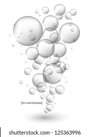 water bubbles Vector illustration.