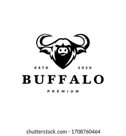 water buffalo head logo vector icon illustration