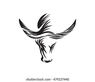 Water Buffalo Simple Silhouette