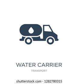 water carrier icon vector on white background, water carrier trendy filled icons from Transport collection, water carrier vector illustration