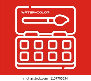 WATER COLOR BOX VECTOR ICON