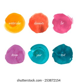 Water color circle on a white background