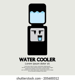 Water Cooler Graphic Vector Illustration