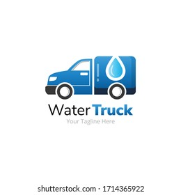 Water Delivery Truck Logo Design