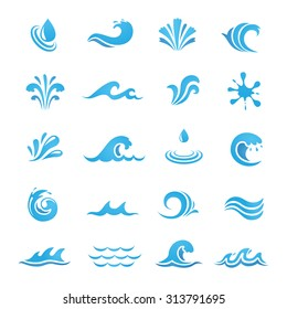 Water Design Elements. Can be used as icon, symbol or logo design