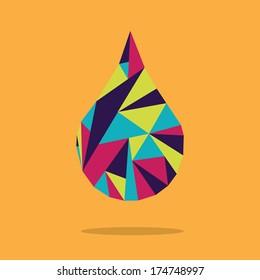 water design over orange  background vector illustration
