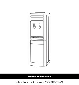 water, dispenser, cold, hot, bottle, fresh, cool, refrigerator, watercooler