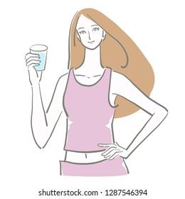 water drink woman