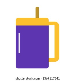 Water, Drinks, Glass Flat Style Icon Vector - Vector