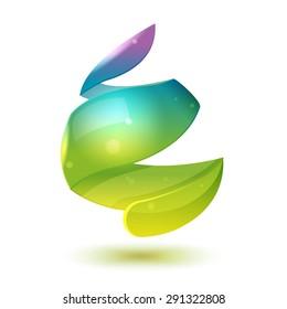 Water Drop Abstract Icon Design Vector