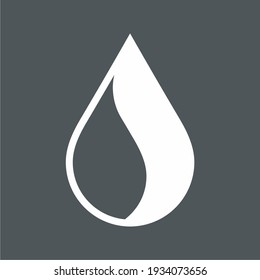 Water drop, droplet. Raindrop icon illustration cut