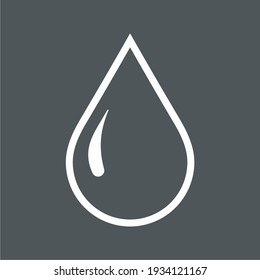 Water drop, droplet. Raindrop icon illustration cut