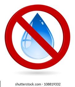 water drop forbidden