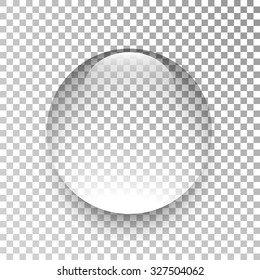 Water drop. Glass sphere. Bubble. Vector illustration.