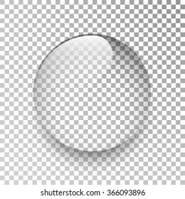 Water drop. Glass sphere. Bubble. Vector illustration.
