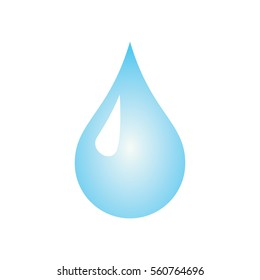 Water Drop Icon in Color Gradient Vector