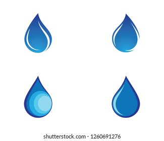 Water drop icon illustration