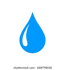 Water drop icon, tear icon, isolated flat vector illustration.