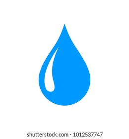 Water drop icon, tear icon, isolated vector illustration.