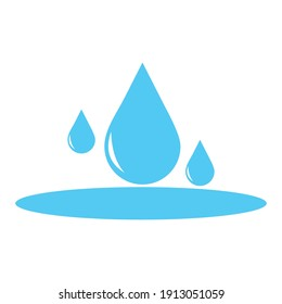 water drop icon vector illustration sign